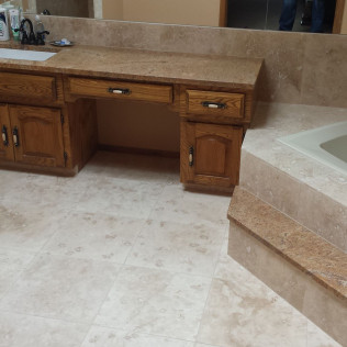 bathroom floor remodel in Gretna &Omaha, NE