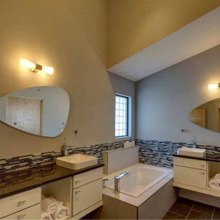 mirror in remodeled bathroom in Gretna & Omaha, NE
